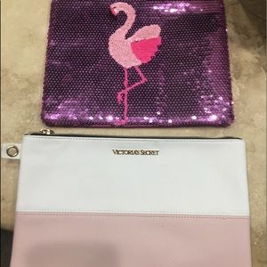 1 Victoria secret makeup bag and one other